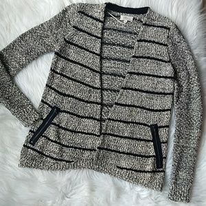 Lou & Grey Marled Striped Cardigan